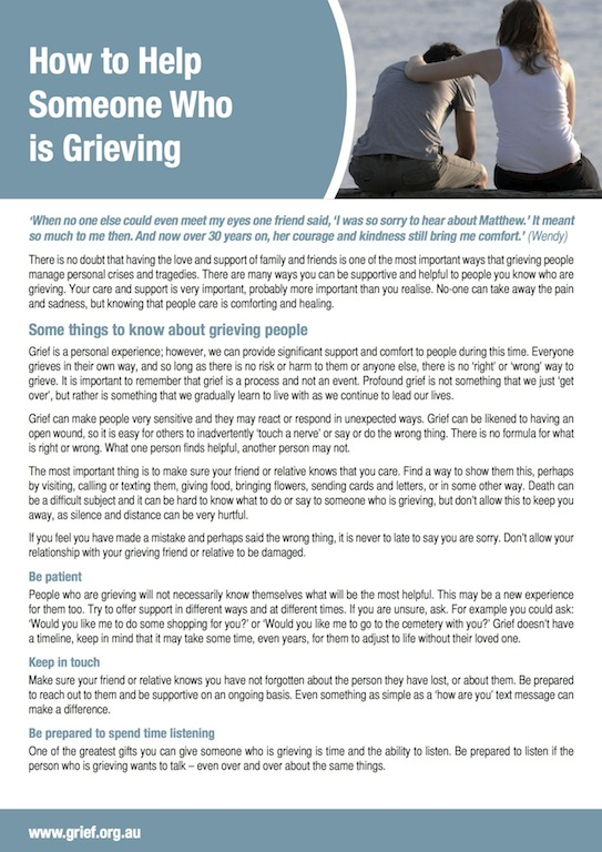 Grief Information Sheets